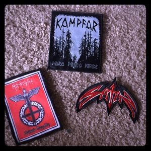 🌲Bundle of black metal band patches🌲